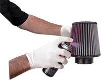 Cone Air Filter Aerosol Oiling