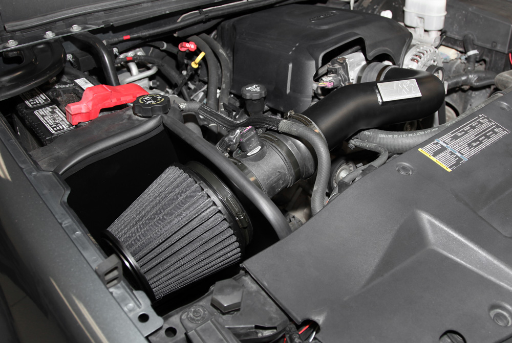 K N Air Intake Under The Hood Of Chevy And Gmc Trucks