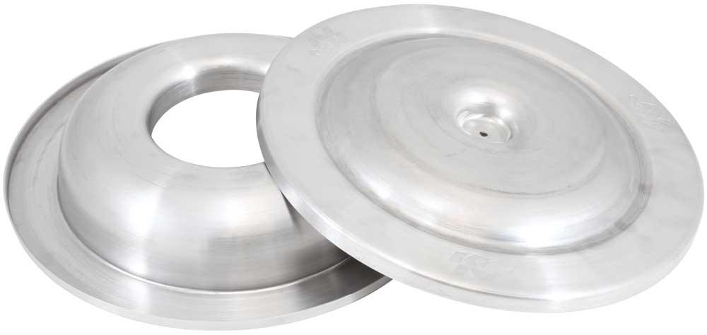 spun aluminum k n air cleaner top base kits available in 14 or 16 diameter. Black Bedroom Furniture Sets. Home Design Ideas