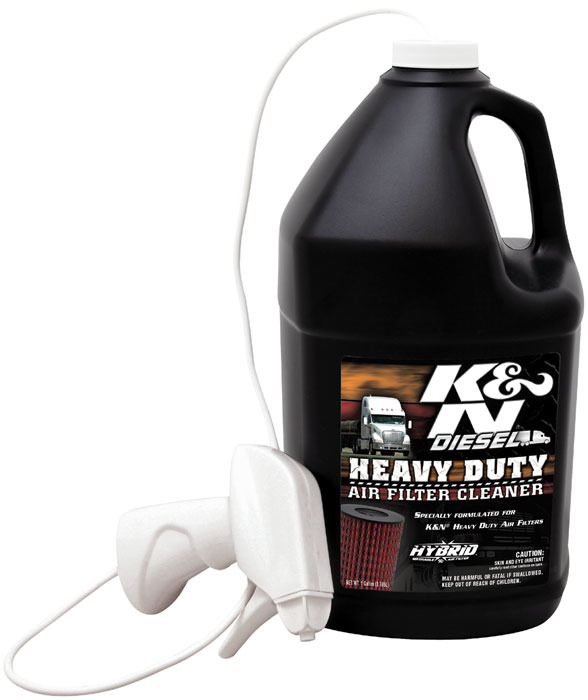 k&n 99-0638 heavy duty filter cleaner, dryflow 1 gal, 128 oz, filter ...
