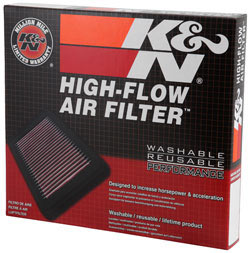 K&N Replacement Air Filter packaging for Ford Fusion and Lincoln MKZ