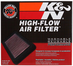 K&N Replacement Air Filter Box for Mercedes Benz CLA220, A220, A200, A180, B220, B200 and B180
