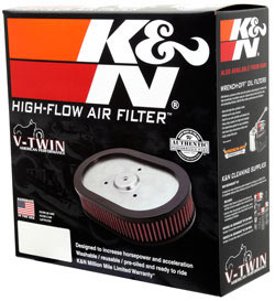 K&N PL-1814 replacement air filter packaging