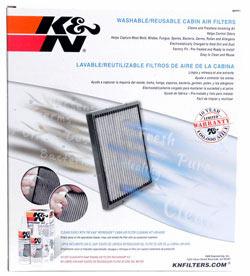 K&N Reusable Cabin Air Filter VF3001 for Buick LeSabre/Lucerne, Cadillac DeVille/DTS, Pontiac Bonneville & Oldsmobile Aurora