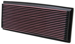 air filter for Jeep Wrangler YJ models with 2.5L L4, 4.2L L6, or 4.0L L6