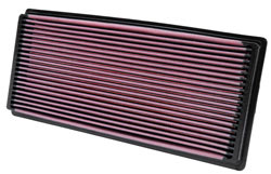 K&N air filter for Jeep Wrangler TJ models, with the exception of 2003-2006 Wrangler 2.4L models