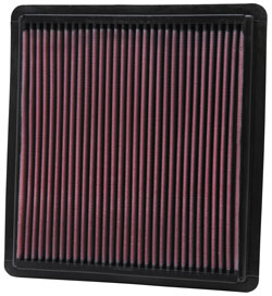 K&N air filter for 2005 to 2009 Ford Mustang GT models with a 4.6L V8