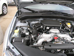Subaru engine compartment with K&N air filter