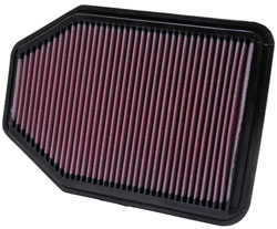 K&N air filter for 2007-2015 Jeep Wrangler JK 3.8L or 3.6L V6 models
