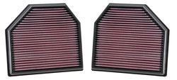 Bottom of the K&N Replacement Air Filter Set for the BMW M3, M4, M5 & M6