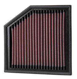 K&N Air Filter under the hood of Dodge Dart