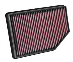K&N reusable air filter for 2012-2014 Mahindra XUV500 W4, W6, or W8 models 2.2L diesel engine
