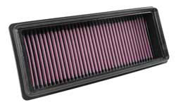 A K&N replacement diesel air filter can flow more air than a typical paper air filter
