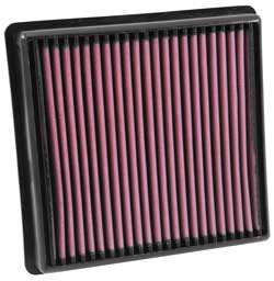 The K&N reusable air filter for 2011-2015 Jeep Grand Cherokee WK2  models with a 3.0L EcoDiesel V6 engine is built with 2 extra layers, totaling 6, of our tight weave cotton gauze