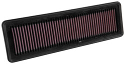 The K&N 33-3049 air filter is for 2014-17 Hyundai Xcent, Grand, and Grand i10 automobiles.