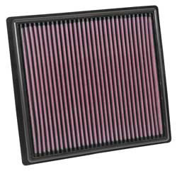 Replacement K&N performance air filter for the 2015 and 2016 Chevrolet Colorado and GMC Canyon with a 2.5L L4 or 3.6L V6 engine