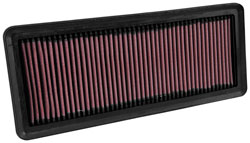 The K&N 33-5040 replacement air filter significantly increases airflow and throttle response
