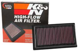 The K&N 33-5060 Replacement Air Filter is washable, street legal & won't void your fac