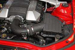 By working around the 2010-2014 stock Chevy Camaro V8 air box K&N was able to retain all factory connections, including emissions control equipment, to create a 50-state street legal air intake