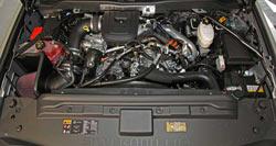K&N Air Intake Installed on a 2011 Chevrolet Silverado 2500 HD 6.6L