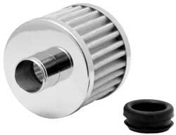 K&N White Steel Base Crankcase Vent Filter