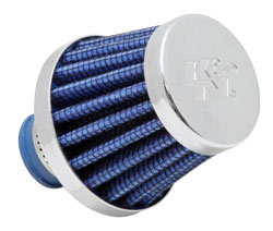 K&N Conical Blue Crankcase Vent Filter