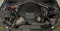 K&N 63-1116 AirCharger intake system installed on a 2011 BMW M3 4.0L S65 V8