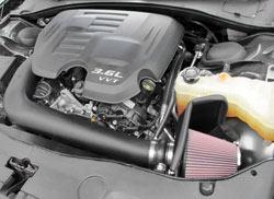 K&N Air Intake Installed on a 2012 Dodge Charger 3.6L V6