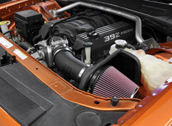 K&N Air Intake Installed on 2011 Dodge Challenger 6.4L