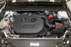 K&N air intake 63-2585 was dyno tested and shown to make an estimated 10.05 more horsepower on a 2013 Ford Fusion 2.0L turbo