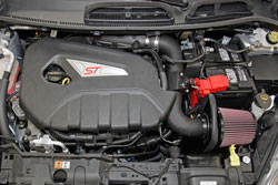 Roto-molded air intake tubes, like the one used in the 2014 Ford Fiesta ST intake system, allow K&N designers to maximize use of tight spaces under the hood of modern cars