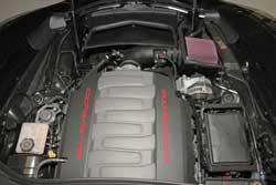 The K&N air intake system for 2014-2015 Chevrolet Corvette Stingray