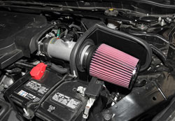 K&N Air Intake under the hood of Honda Accord 3.5L