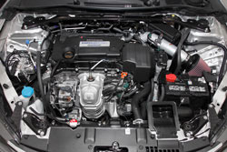 K&N Air Intake under the hood of a Honda Accord 2.4L