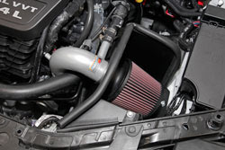 K&N Air Intake under the hood of a Dodge Avenger 2.4L