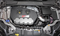 K&N Air Intake System under the hood of 2013 & 2014 Ford Focus with 2.0L Engine