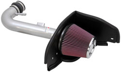 K&N's 69-3525TS High-Flow Intake System for 2010 Ford Mustang 4.0L V6 models.