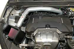 Engine bay shot of K&N Short Ram Intake 69-4529TS