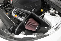 The K&N 69-4535TP Air Intake includes an air filter, mendrel-bent aluminum tube, and heat shield