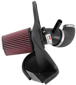 Performance Air Intake System 69-5311TTK from K&N Filters increases horsepower on the 2013 Hyundai Genesis Coupe Turbo