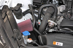 K&N Air Intake under the hood of Hyundai Genesis Coupe