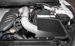 K&N Air Intake under the hood of Hyundai Veloster Turbo
