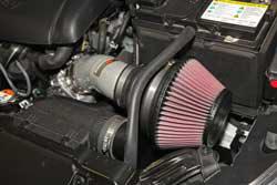 The K&N 2014-2016 Hyundai Elantra air intake system reuses the factory fresh air inlet