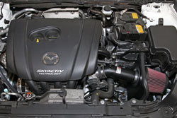 K&N Air Intake System 69-6033TTK is powdercoated in a textured black finish to protect the tube and match the engine bay of the 2013-2016 Mazda 3