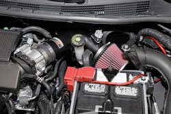 K&N Air Intake under the hood of 2013 or 2014 Nissan Sentra 1.8L