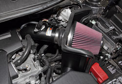 K&N Air Intake under the hood of Toyota Camry 2.5L