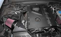 K&N intake can be bolted on to 2009-2013 Audi A4 2.0L models for an incredible boost in horsepower