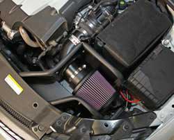 K&N Air Intake under the hood of VW Jetta TDI diesel
