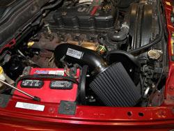 K&N Air Intake under the hood of Dodge Ran 2500 & 3500 Pickups