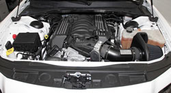 K&N Air Intake under the hood of Dodge Charger SRT-8